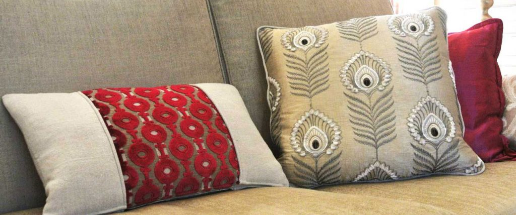 cushions and upholstery by anna tyrrell interior design Godalming